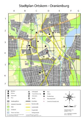Stadtplan Ortskern Oranienburg (1)
