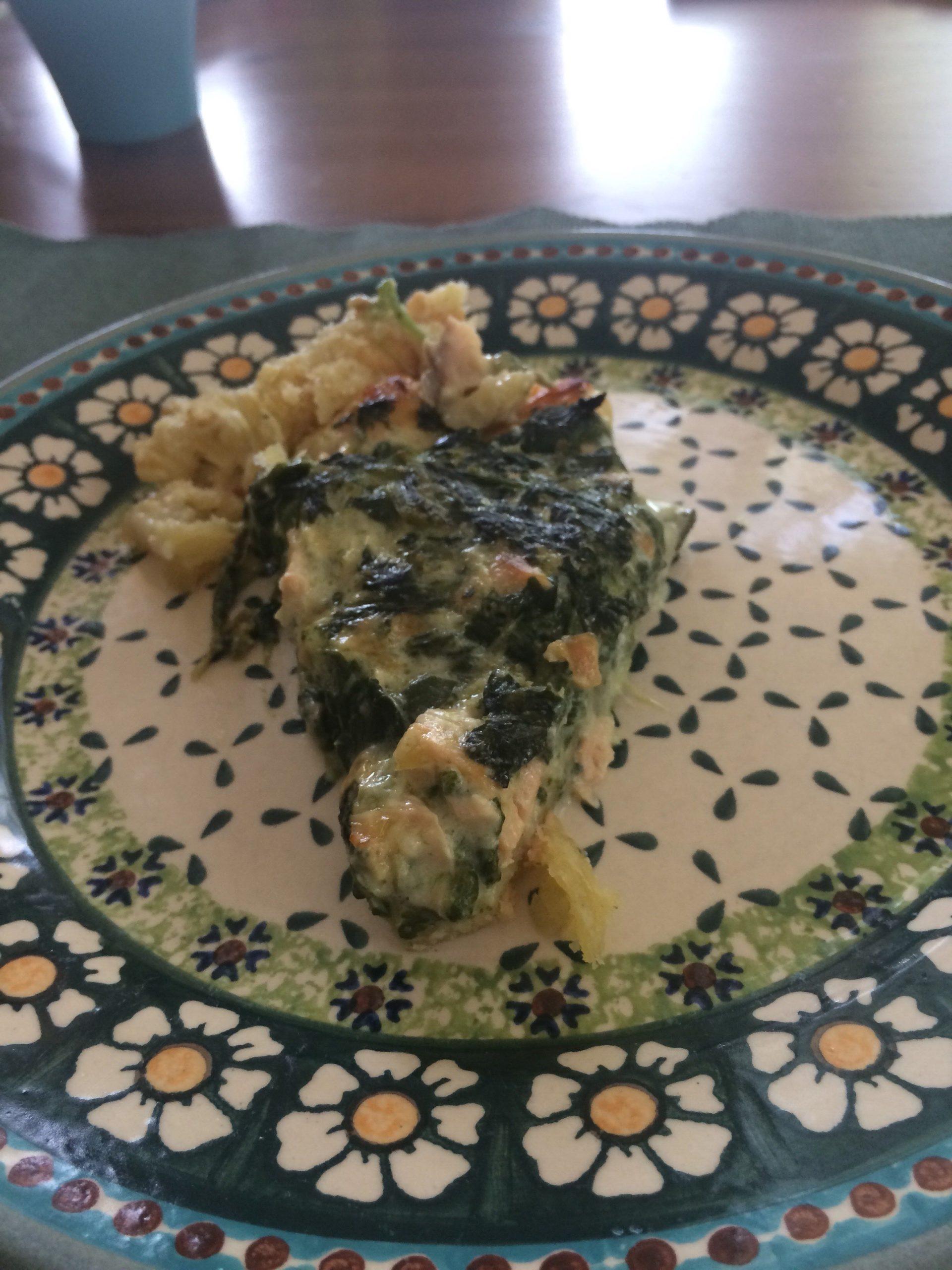 Spinat-Lachs-Tarte