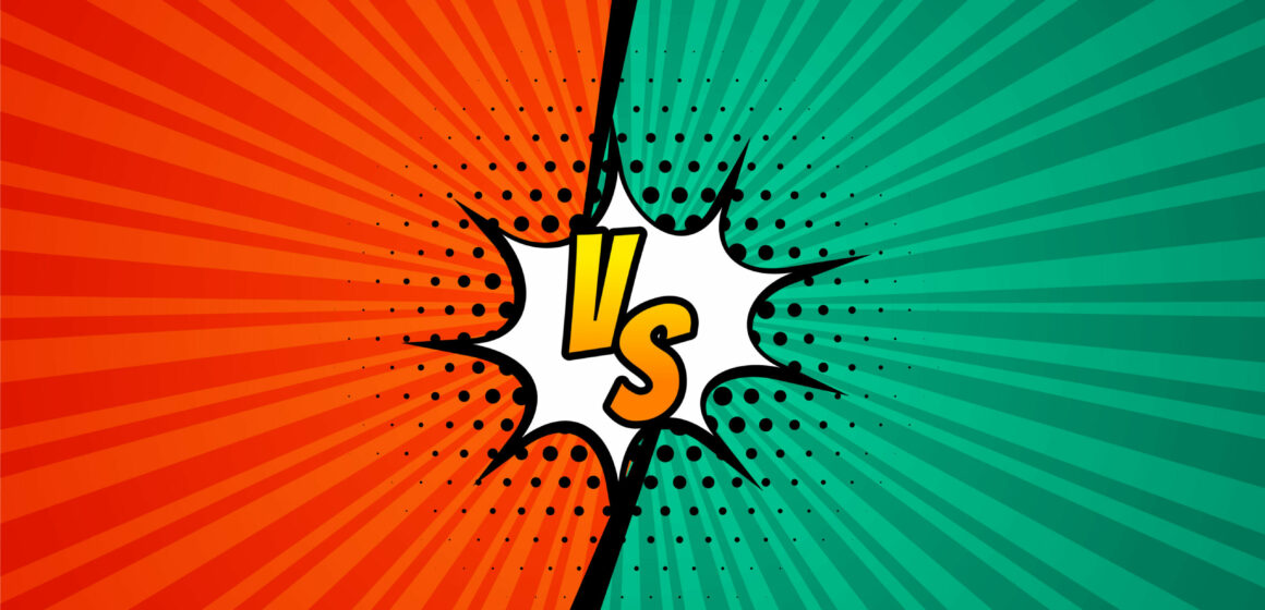 versus vs screen comic style background design